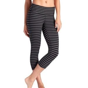Athleta Striped Cropped Legging
